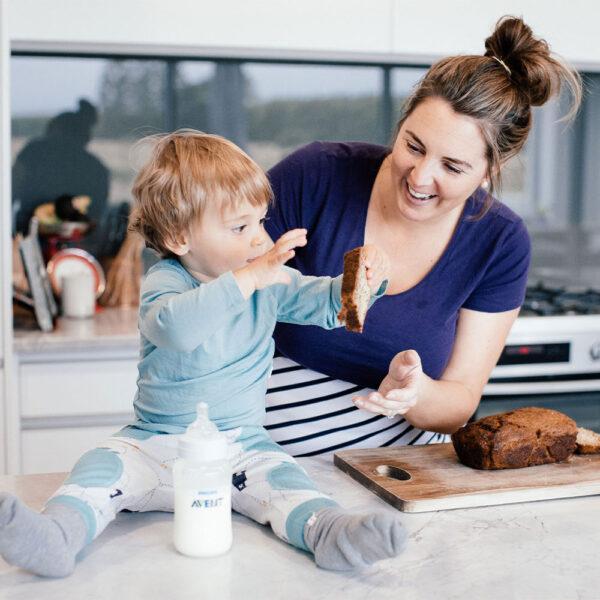 Hannah Romano with son Cooper