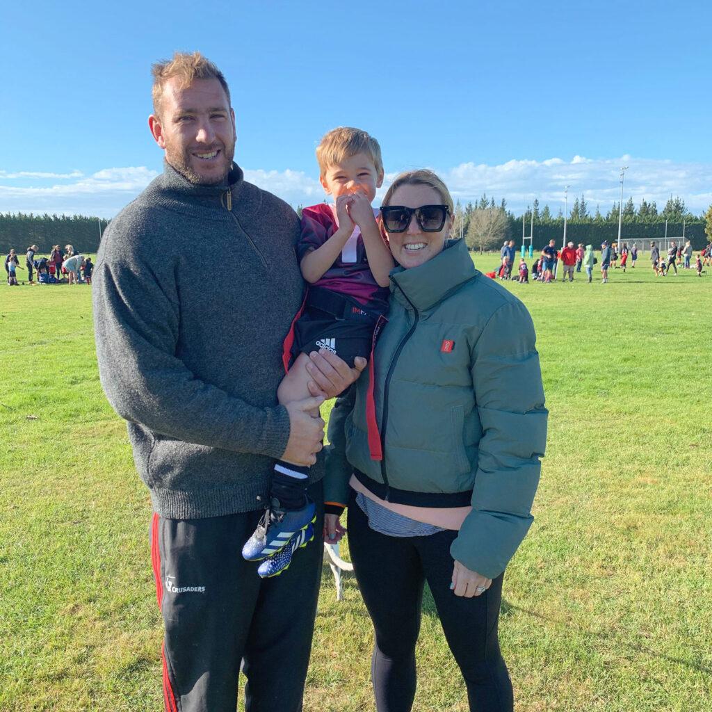 Luke and Hannah Romano rugby season